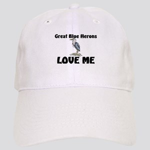 Great Blue Herons Love Me Cap