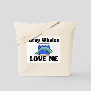 Gray Whales Love Me Tote Bag
