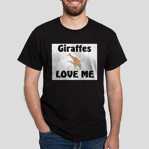 Giraffes Love Me Dark T-Shirt