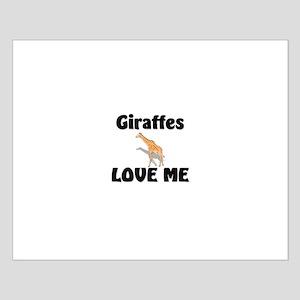 Giraffes Love Me Small Poster
