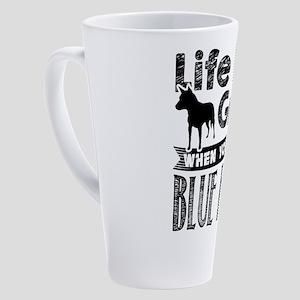 Blue Heeler 17 oz Latte Mug