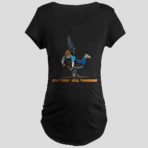 Ride Today Biking Maternity Dark T-Shirt