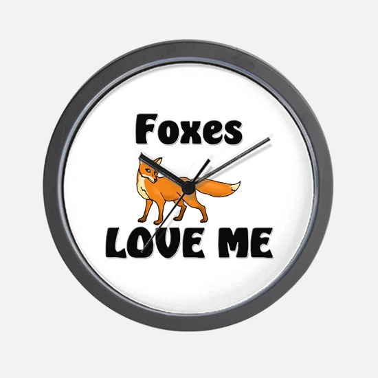 Foxes Love Me Wall Clock