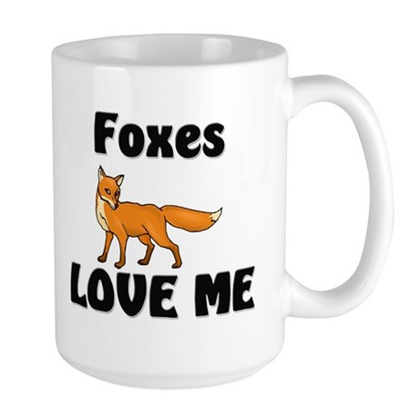 Foxes Love Me Large Mug