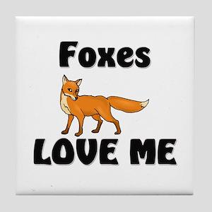 Foxes Love Me Tile Coaster