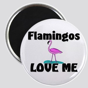 Flamingos Love Me Magnet