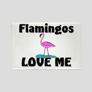 Flamingos Love Me Rectangle Magnet