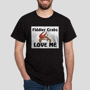 Fiddler Crabs Love Me Dark T-Shirt