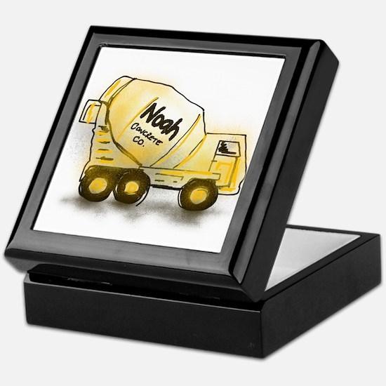 Noah - Boys Names Concrete Truck Keepsake Box