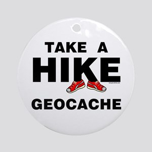 Geocache Hike Ornament (Round)