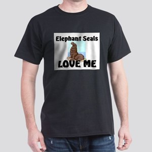 Elephant Seals Love Me Dark T-Shirt
