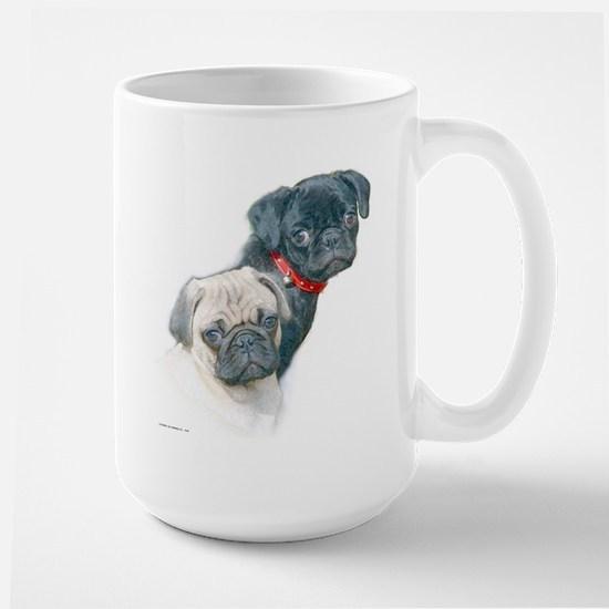 Two Pugs Large Mug