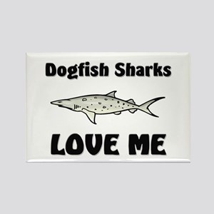 Dogfish Sharks Love Me Rectangle Magnet