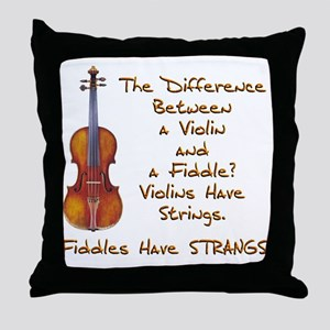 Funny Fiddle or Violin Throw Pillow
