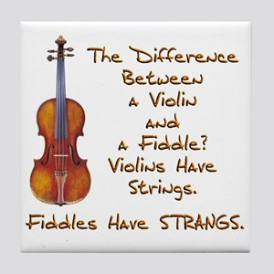 Funny Fiddle or Violin Tile Coaster