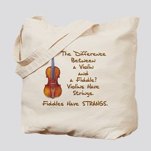 Funny Fiddle or Violin Tote Bag