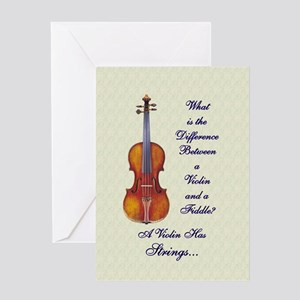 Funny Fiddle or Violin Greeting Card