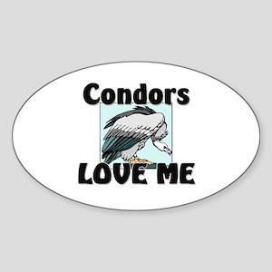 Condors Love Me Oval Sticker