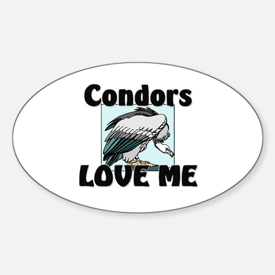 Condors Love Me Oval Decal