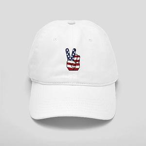 American Flag Peace Hand Cap