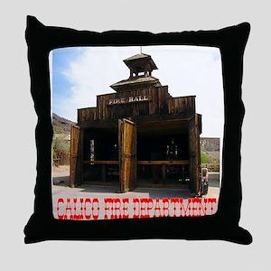 Calico Fire Hall Throw Pillow