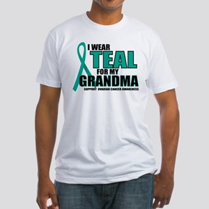 OC: Teal For Grandma Fitted T-Shirt
