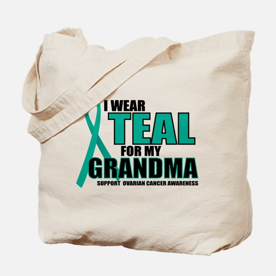 OC: Teal For Grandma Tote Bag