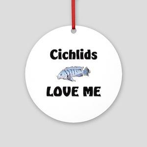 Cichlids Love Me Ornament (Round)