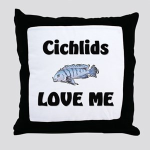 Cichlids Love Me Throw Pillow