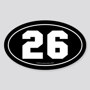 #26 Euro Bumper Oval Sticker -Black