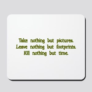 Pictures, Footprints Mousepad