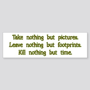 Pictures, Footprints Bumper Sticker