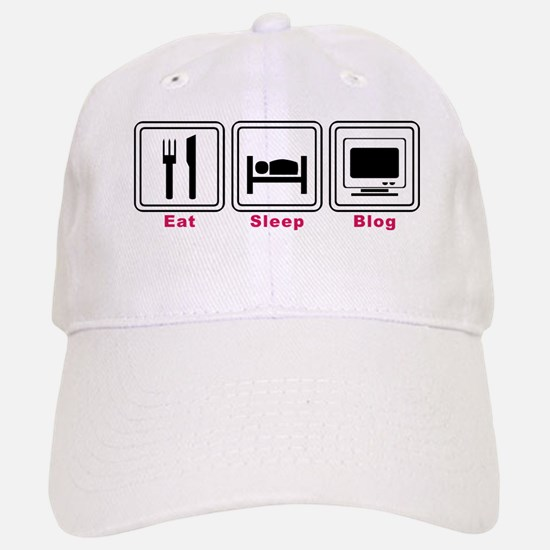 Eat Sleep Blog Baseball Baseball Cap