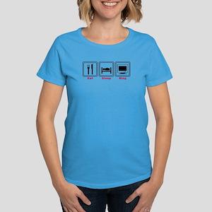 Eat Sleep Blog Women's Dark T-Shirt