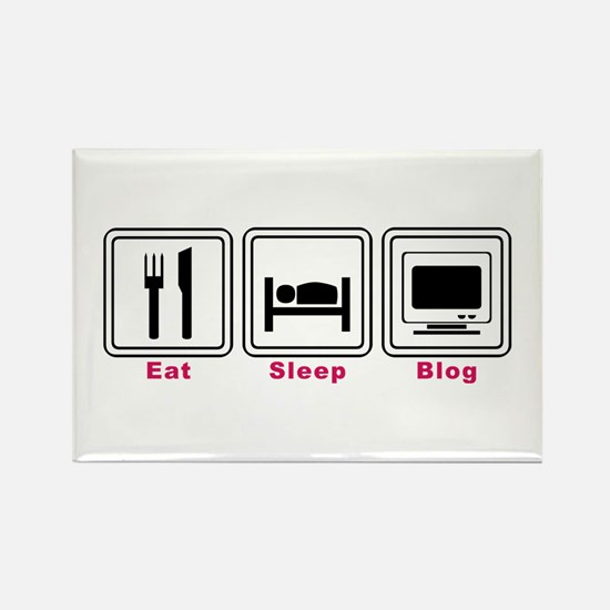 Eat Sleep Blog Rectangle Magnet