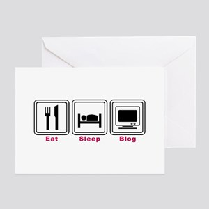 Eat Sleep Blog Greeting Card