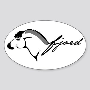 Fjord Horse Oval Sticker