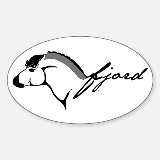 Fjord Horse Oval Decal