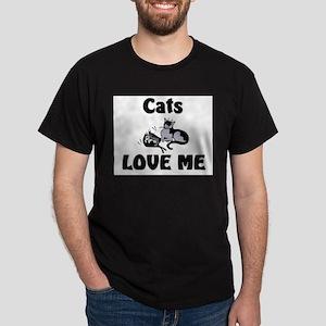Cats Love Me Dark T-Shirt