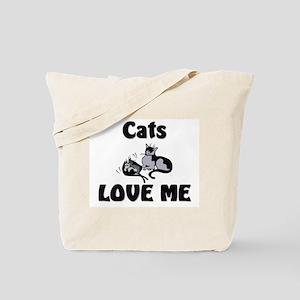 Cats Love Me Tote Bag