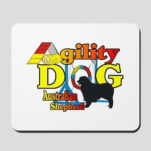 Australian Shepherd Agility Mousepad