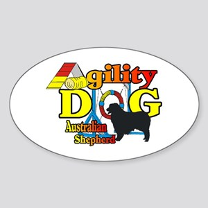 Australian Shepherd Agility Sticker (Oval 10 pk)