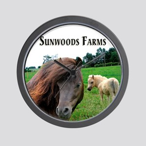 Miniature Horses Shadow Buck Wall Clock