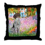 Garden/German Pointer Throw Pillow