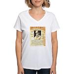 General Omar Bradley Women's V-Neck T-Shirt