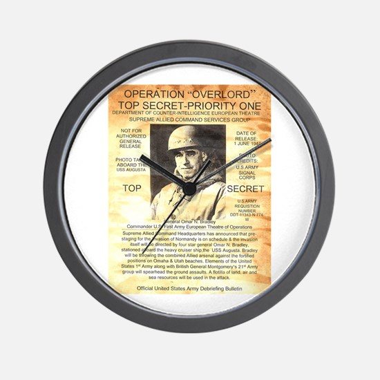 General Omar Bradley Wall Clock
