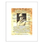 General Omar Bradley Small Poster
