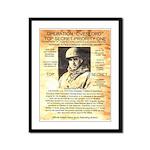 General Omar Bradley Framed Panel Print