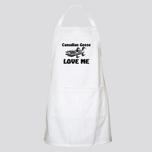 Canadian Geese Love Me BBQ Apron