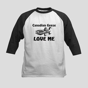 Canadian Geese Love Me Kids Baseball Jersey